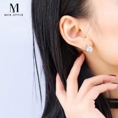 Lucu Wanita Temperamen Anting-Anting Korea Karakter Kreatif Sederhana Western Siswa 925 Perak Kecil Anting