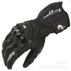 FURYGAN AFS18 Black Motorcycle Racing Long Leather Riding Gloves(Color:Black)(Size:XL)