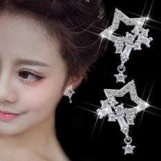 Fuyuan Shun Korea Temperamen Fashion Adalah Penuh Bintang dengan Micro Bor Earrings Telinga Perhiasan Trend All-Match Female Star Zircon-Intl
