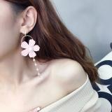 Harga Gadis Jantung Bunga Mutiara Rumbai Anting Anting Branded