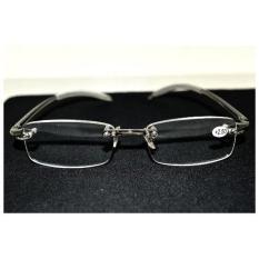 Gafas De Lectura Dua Pasang Rimless Frameless Light Antislip Pria Wanita Kacamata Baca + Kasus + 1.50
