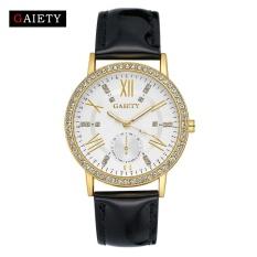 Jual Beli Gaiety G081 Wanita Fashion Kulit Band Analog Quartz Round Wrist Jam Tangan Hitam
