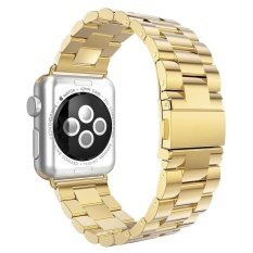 GAKTAI For Space Black Apple Watch Stainless Steel Link Bracelet Strap Band 42mm (Gold) high-caliber - intl