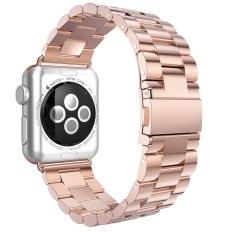 GAKTAI untuk Ruang Black Apple Watch Stainless Steel Link Gelang Strap Band 42mm (Rose Gold) Kaliber-tinggi-Intl