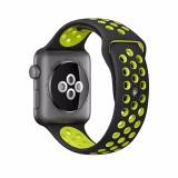 Review Gaktai Pengganti Olahraga Jam Gelang Tali Silikon To Apple Watch Seri 38Mm Hitam Kuning Internasional Gaktai Di Tiongkok