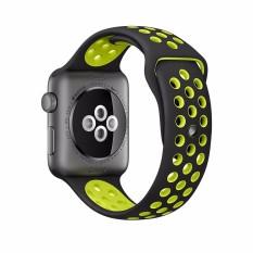 Toko Gaktai Pengganti Olahraga Jam Gelang Tali Silikon To Apple Watch Seri 38Mm Hitam Kuning Internasional Online Tiongkok