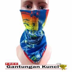 Jual Galaksi Buff Masker Multifungsi Seamless Wear 15 Free Gantungan Kunci Biru Multicolor Satu Set