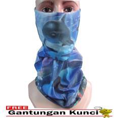 Review Toko Galaksi Buff Masker Multifungsi Seamless Wear 30 Free Gantungan Kunci Biru Hitam Online