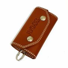 Gantungan Kunci Mobil 6001 Kulit Sintetis Import - Brown