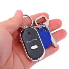 Gantungan Kunci Siul Pencari Key Finder Keren Otomatis Oval + LED