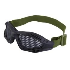 Gaoshang Csler® Taktis Airsoft Goggles Adjustable Eye Pelindung Metal Mesh Goggles untuk Airsoft CS Field Wargames Olahraga-Intl