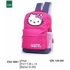 Garsel Fashion Tas Ransel Anak Perempuan FDC 5851 - PINK Bahan D-300