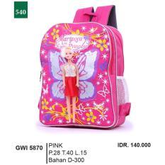 Garsel Fashion Tas Ransel Anak Perempuan GWI 5870 - PINK Bahan D-300