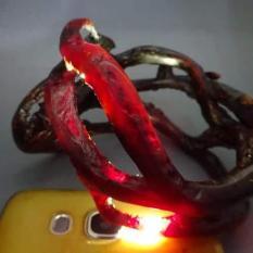 Gelang Akar Bahar Merah Asli Tembus Cahaya