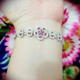 Gelang Bunga Gold Silver Cantik Xuping Xuping Jewelry Diskon 40