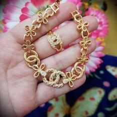Jual Gelang Cincin Chanelll Xuping Gold Silver Bunga Original
