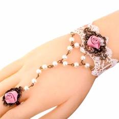 Spesifikasi Gelang Cincin Choker Renda Pink Aksesoris Wanita Fashion Korea Perhiasan Pesta Murah Kado Murah