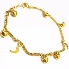 Gelang Kaki Emas - Gelang Kaki Fashion Emas Imitasi - Aksesoris Wanita Fashion Korea Perhiasan Pesta Murah Kado