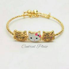 Gelang Korea Anak Gold 18K 3 Kucing01