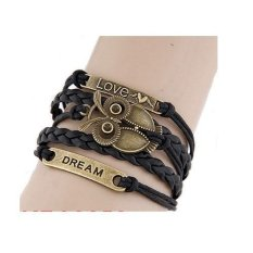 Harga Termurah Gelang Korea Multi Vintage Owl Love Dan Dream Kb32250