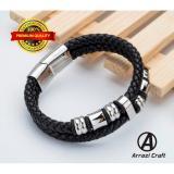 Harga Gelang Kulit Asli Premium Pria Wanita Cowok Cewek Vintage Original Unik Gaul Trendy Terbaru Bagus Keren Model Double Ring Asli Gelang Kulit