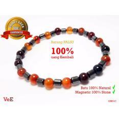 Toko Gelang Magnet Kesehatan Pria Wanita Magnetic Therapy Bracelet Batu Giok Coklat Vee Accessories Online