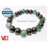 Toko Jual Gelang Magnet Kesehatan Pria Wanita Magnetic Therapy Bracelet Batu Giok Hijau