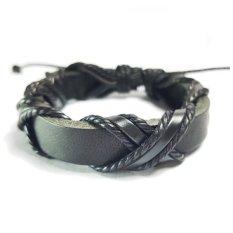 Tips Beli Gelang Pria Wanita Kulit Asli Leather Bracelet Korean Hitam