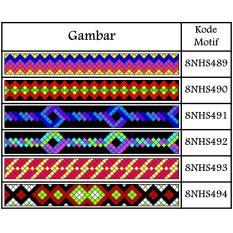 Gelang Rajut/Macrame Motif 8NHS489 - 8NHS532 Dengan Katalog warna bisa sesuai selera