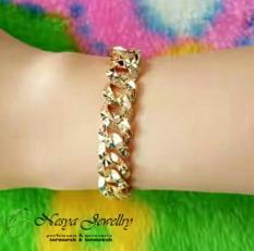Gelang Rantai Grafir Lapis Emas / Gelang Tangan / Nesya Jewellry
