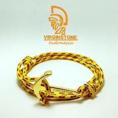 Harga Gelang Virginstone Gold Anchor Yellow Nautical Rope Seken