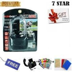 Gembok Kinbar Anti Maling Gembok Alarm RING PANJANG ORIGINAL 100% Suara Mantap + FREE Holder Motor, Waterproof 1Pcs & Gurita HP 1Pcs