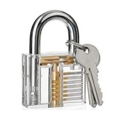 Gembok Transparan Professional Locksmith Training Padlocks - Transparent