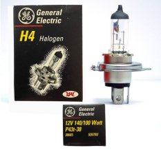General Electric Bohlam Halogen H4 GE 12V 140/100W P43t-38 Headlights Lampu Depan Mobil - Made in Hungary