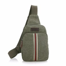 Harga Generic Tas Selempang Canvas Import Mini Sling Bag Stripes Color Green Unique Online