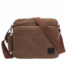 Tips Beli Generic Tas Selempang Kanvas Travel Pria Korea Sling Bag Multifungsi M4 Dark Brown Yang Bagus