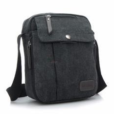 Tips Beli Generic Tas Selempang Messenger Kanvas Travel Pria Unisex Korea Sling Shoulder Bag Multifungsi Hitam