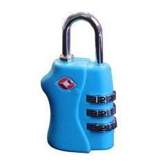Jual Generic Tsa Gembok Koper Travel Lock 3 Kombinasi Tsa338 Biru Generic