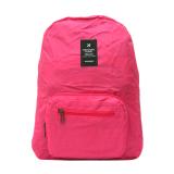 Jual Generic Weekeight Korean Foldable Backpack Bag Merah Muda Generic