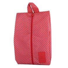 Generic WeekEight Korean Shoes Organizer Simple Bag Motif V2 Merah