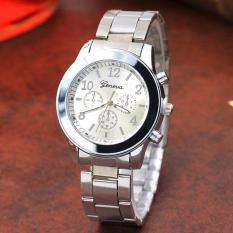 GENEVA 260 Jam Tangan Wanita Analog Fashion Casual Women Strap Stainless Steel Wrist Quartz Watch