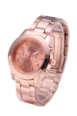 Review Terbaik Geneva 5800 Brand Lover Watch Fashion Stylish Alloy Quartz Watch Perak Intl Intl