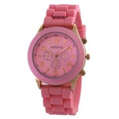 Geneva cosmo rubber - Jam Tangan Fashion Wanita - rubber Strap - GV cosmo light pink