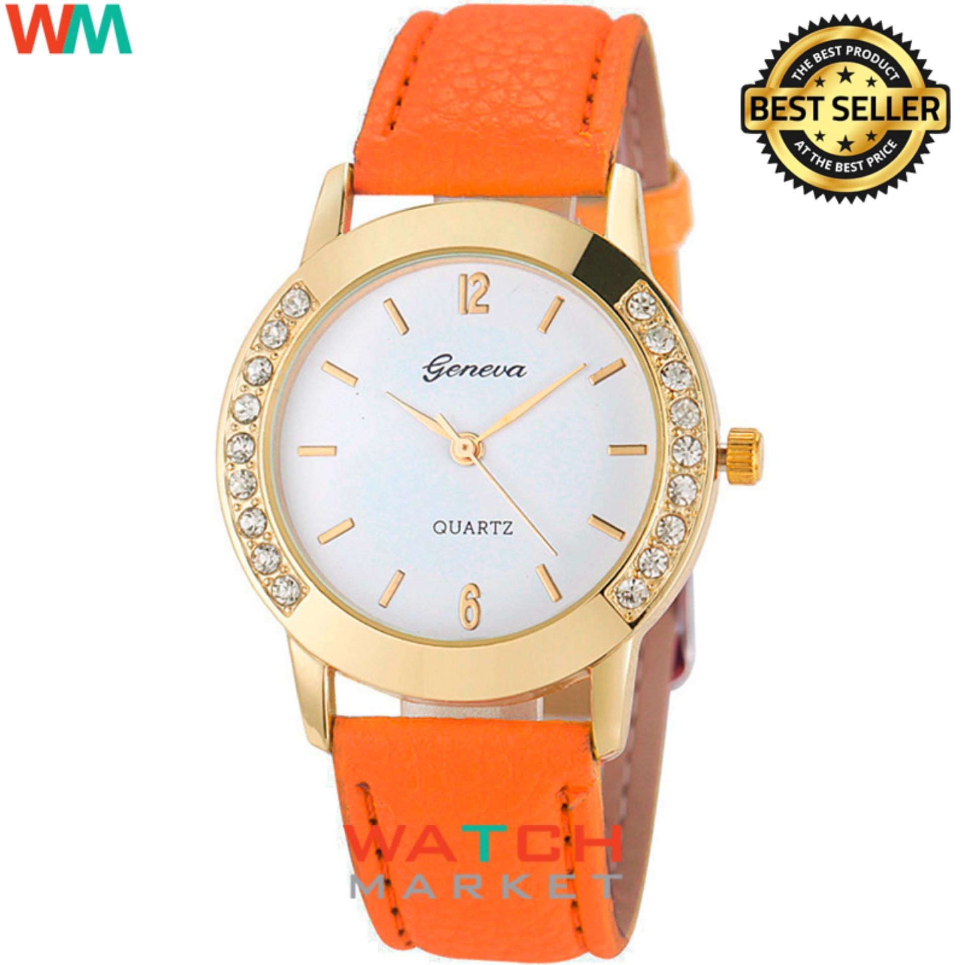 Shock Price Geneva - Jam Tangan Wanita - Orange Gold - Strap Leather - 003  best price - Hanya Rp21.323 ce6e063f53