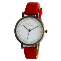 Diskon Geneva Ladies Vintage Watch Merah Kulit Gnv Lvw 0801 Red Geneva Indonesia