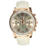 Beli Geneva Wanita Roman Numerals Faux Leather Wrist Watch 9298 Cicil
