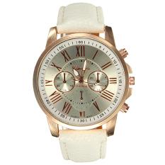 Toko Geneva Wanita Roman Numerals Faux Leather Wrist Watch 9298 Geneva