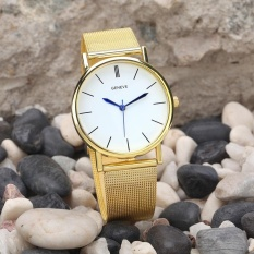 Geneve Women's Fashion Watch Stainless Steel Band Quartz Wrist Watches - intl