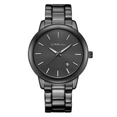 Toko Getek Pria Stainless Steel Tanggal Quartz Analog Sport Wrist Watch Hitam Yang Bisa Kredit