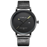 Beli Getek Pria Stainless Steel Quartz Sport Leather Band Dial Wrist Watch Hitam Kredit
